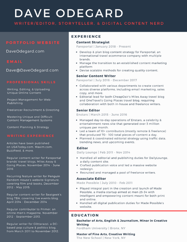 Website Resume graphic1